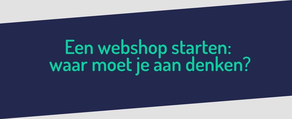 Een webshop starten